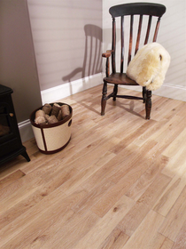 Image for Solid Wood Whitewashed Oak Flooring Wide UV Lacquered Random Length - 1.195m2