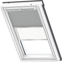 Image for Velux Duo Blind Grey / White - DFD 0705S