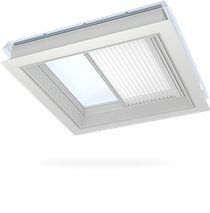 Image for VELUX Pleated White Blind FMG Electric Flat Roof  - Various Sizes