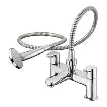 Image for Ideal Standard Concept Blue Bath Shower Mixer With Shower Kit Chrome