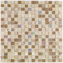 Image for Mosaics Naturals Glass and Stone Natural Mix Mosaic 300mm x 300mm Wall Tile 10 Per Pack - BCT38504