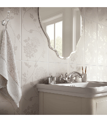Image for Laura Ashley Bathroom Wall Tile The White Collection Isodore 248mm x 498mm 8 Per Pack - LA51898