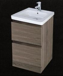 Image for RAK Manhattan Oak Wood Floor Standing Cabinet & 1TH Basin - 480mm