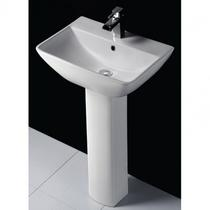 RAK Summit Basin & Full Pedestal 600mm Wide One Tap Hole