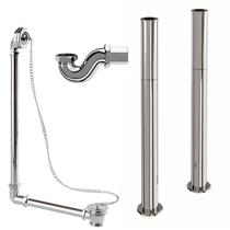 Image for Burlington Rolltop Bath Pack - Chrome Plug & Chain