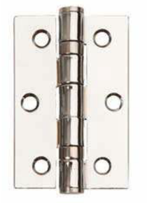 Image for Satin Chrome Ball Race Butt Hinges 76 x 51 x 2.0mm - Pair