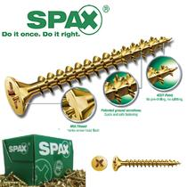 Image for SPAX Woodscrew Pozi Yellow 5.0 X 80mm 100 BOX