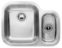 Image for BLANCO SUPREME 533-U Stainless Steel Kitchen Sink & Tap Pack Left Hand Main Bowl