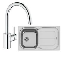 Image Of Grohe Concetto Kitchen Tap & Moon 1.5 Bowl Sink Reversible 122447