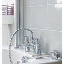 Image for Ideal Standard Cone Dual Control Bath Tap With Shower Kit