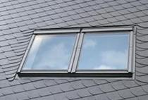 Image for VELUX EBL UK10 0021B Twin Combination Slate Flashing 134x160cm - 18mm Gap