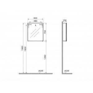 vitra ecora 600mm oak bathroom mirror cabinet vitra browse by