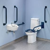 Image for Twyford Doc M Rimless Value Pack , Blue Grab Rails & Seat