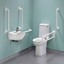 Image for Twyford Doc M Rimless Super Pack Right Hand , White Grab Rails & Seat
