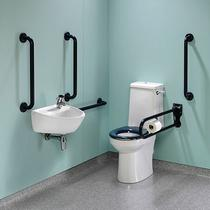 Image for Twyford Doc M Rimless Super Pack Right Hand , Blue Grab Rails & Seat