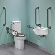 Image for Twyford Doc M Rimless Super Pack Left Hand , Grey Grab Rails & Seat