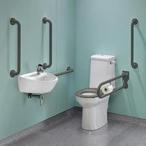 Image for Twyford Doc M Rimless Super Pack Right Hand , Grey Grab Rails & Seat