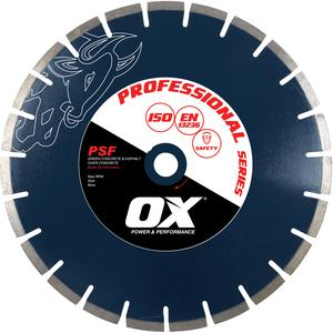 Image for OX Professional PSF Floor Saw Diamond Blade - Asphalt over concrete
