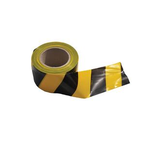 Image for OX 75mm x 100m Yellow/Black Single Sided Barrier Tape - Box of 20