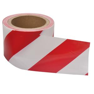 Image for OX 75mm x 100m Red/White Double Sided Barrier Tape - Box of 20