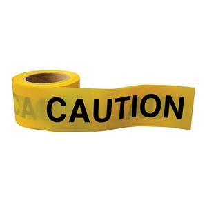 "Image for OX 75mm x 100m Yellow/Black ""Caution"" Barrier Tape - Box of 20"