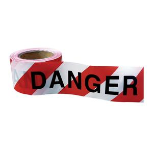 "Image for OX 75mm x 100m Red/White ""Danger"" Barrier Tape - Box of 20"