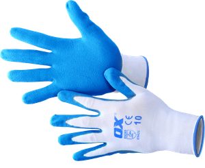 OX Polyester Lined Nitrile Glove - 5 pack
