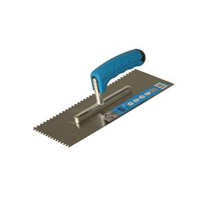 Image for OX Trade 4 x 4mm Notch Trowel - Rubber G