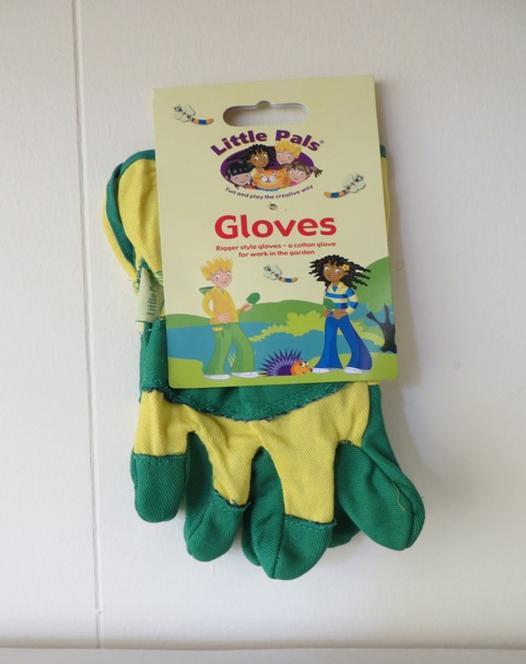 Gant de jardinage pour enfant (vert/jaune)