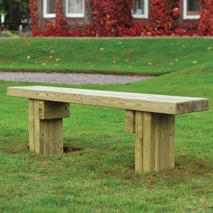 Brocastle timber bench
