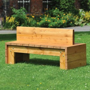 Chaddesden bench with hardwood iroko finish