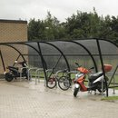Regal Cycle Shelter - Run of Two with Shelter Mounted Racks