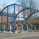 Wardale Cycle Shelter with Swing Gates and HPS Colourcoat Cladding