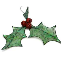 Embroidered Organza Holly - Course by Claire Muir