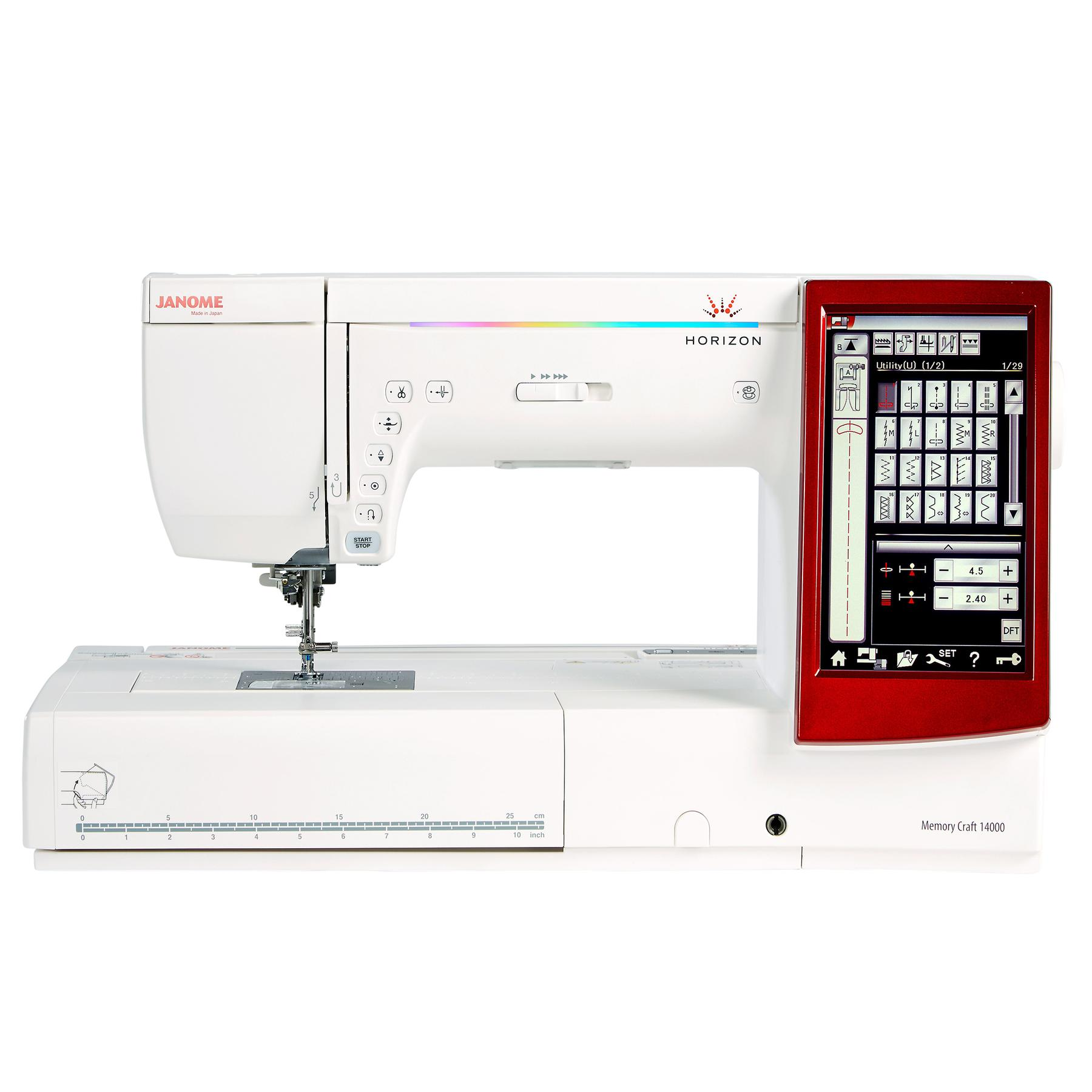 Janome memory craft 14000 frank nutt sewing machines ltd for Janome memory craft 9500