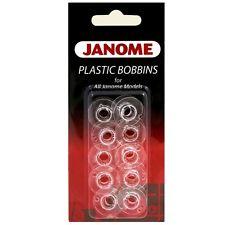 Janome Plastic Bobbins (Pack Of 10)