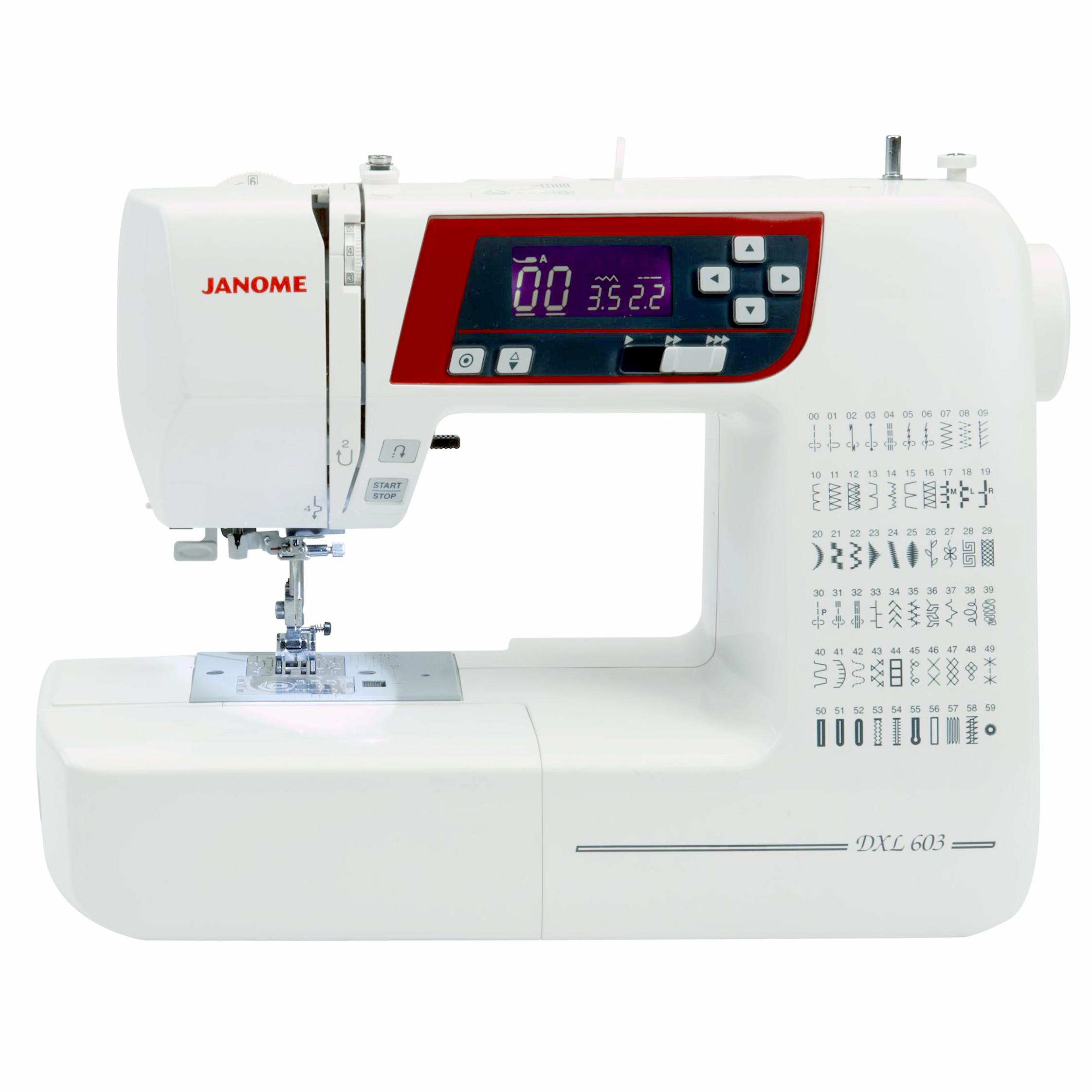 Janome dxl603 frank nutt sewing machines ltd buy online for Janome memory craft 9500