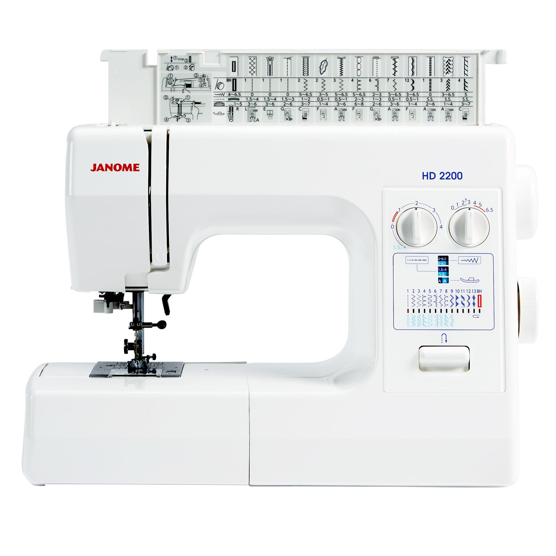 Janome HD2200 | Frank Nutt Sewing Machines Ltd | Buy online