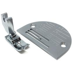 Janome Straight Stitch Foot and Needle Plate for Fine Fabrics - 1600P