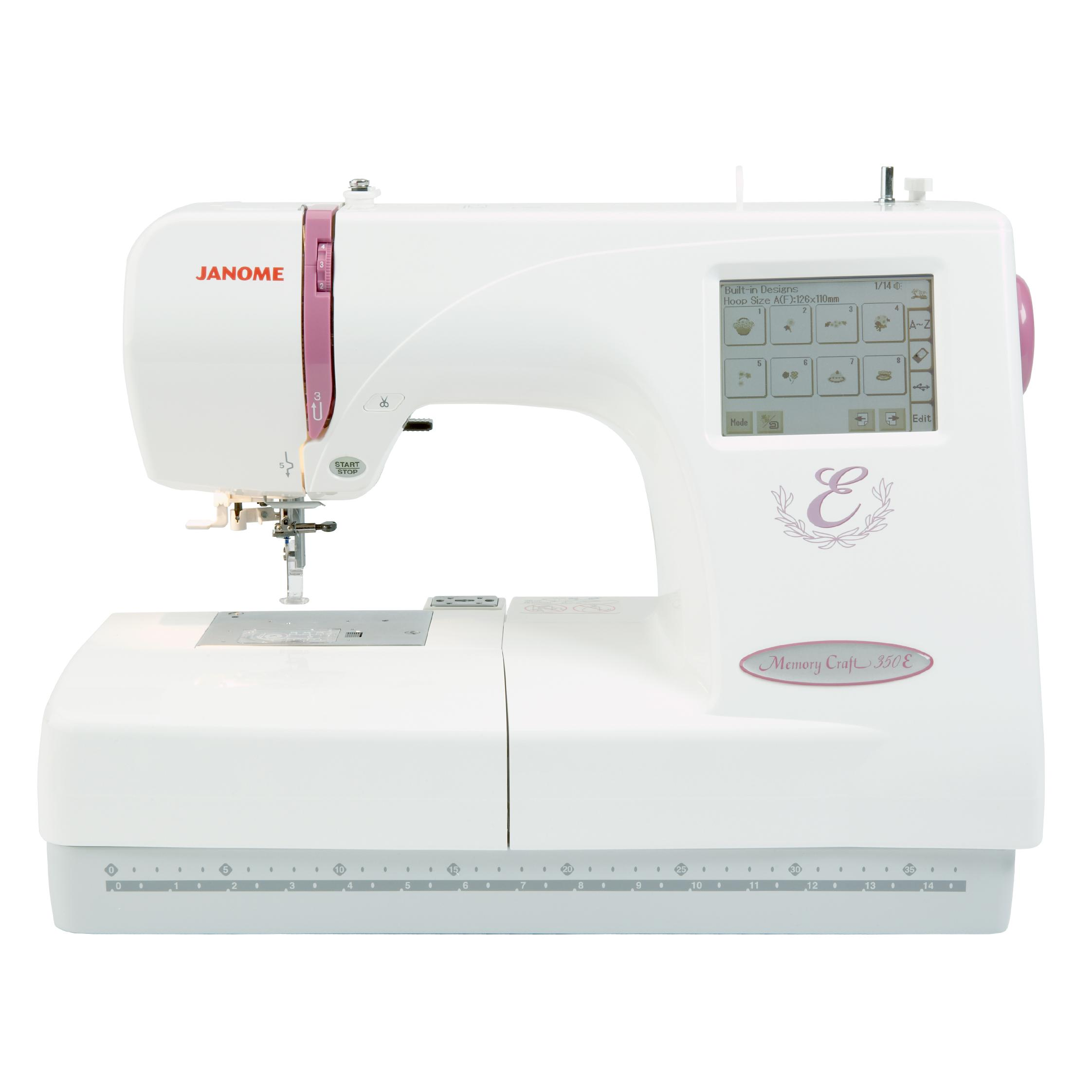Janome memory craft 350e frank nutt sewing machines ltd for Janome memory craft 9500