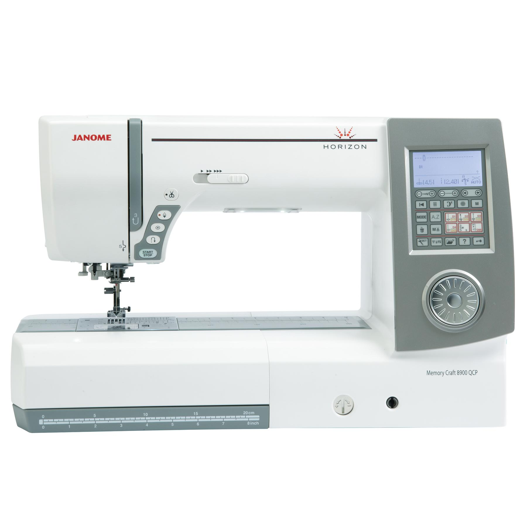 Janome horizon 8900qcp frank nutt sewing machines ltd for Janome memory craft 9500