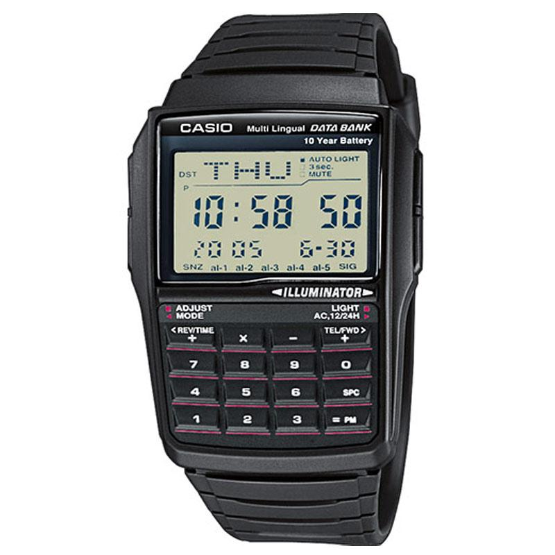 Casio Men's Retro Databank Watch - Black