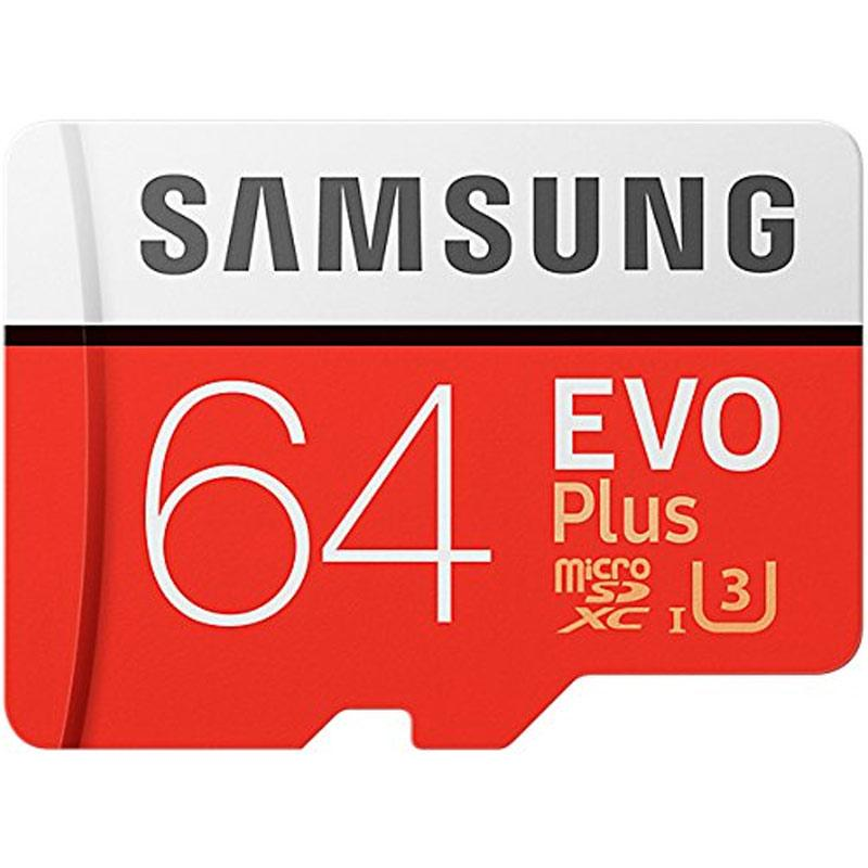Samsung 64GB Evo Plus Micro SD Card (SDXC) + Adapter - 100MB/s
