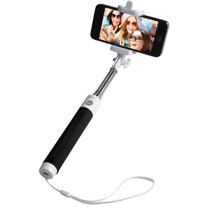 Groov-e Bluetooth Selfie Stick with Remote Shutter - Black