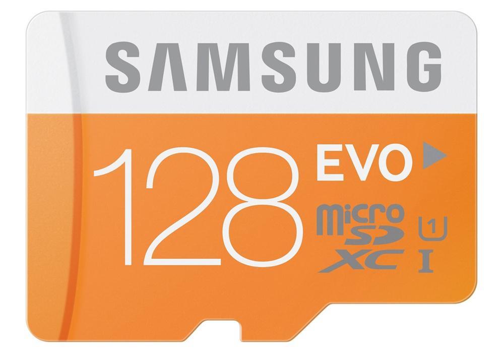 Samsung 128GB EVO Micro SD Card (SDXC) + Adapter - 48MB/s