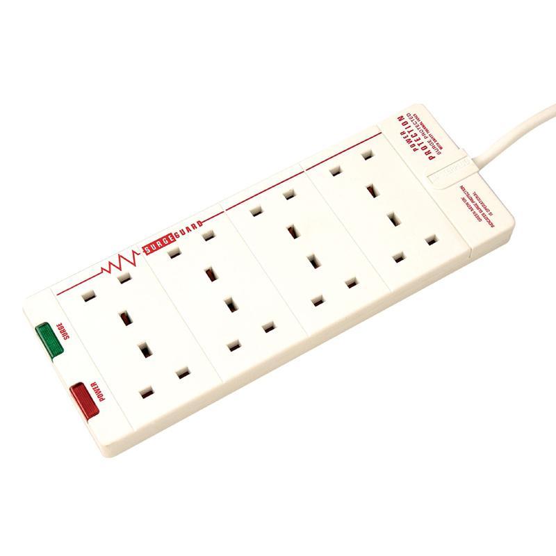 Masterplug 8 Socket Surge Protected Extension Lead 2M