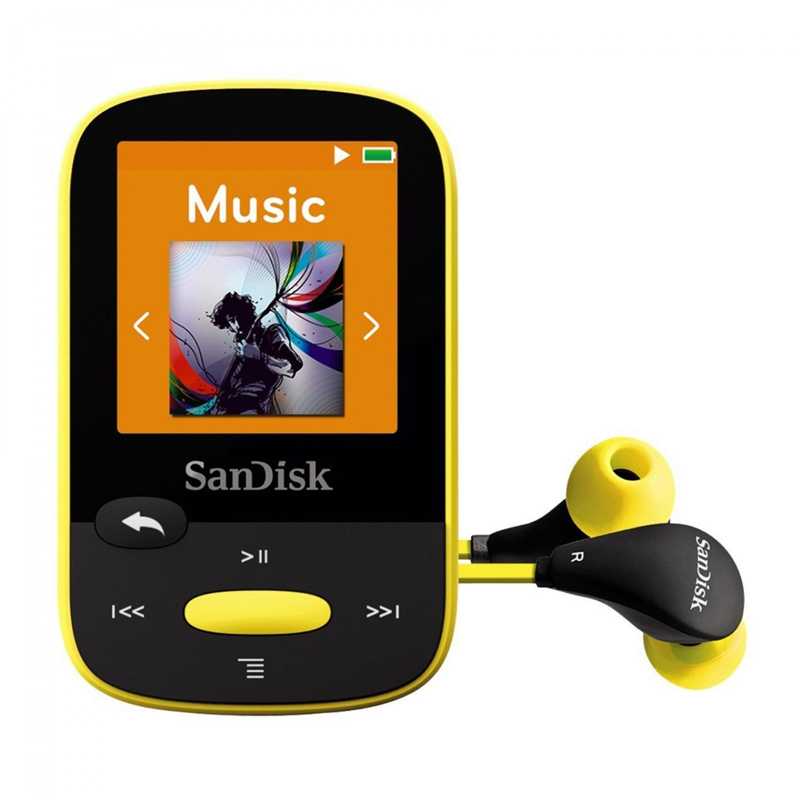 SanDisk Clip Sport 4 GB MP3 Player - Yellow