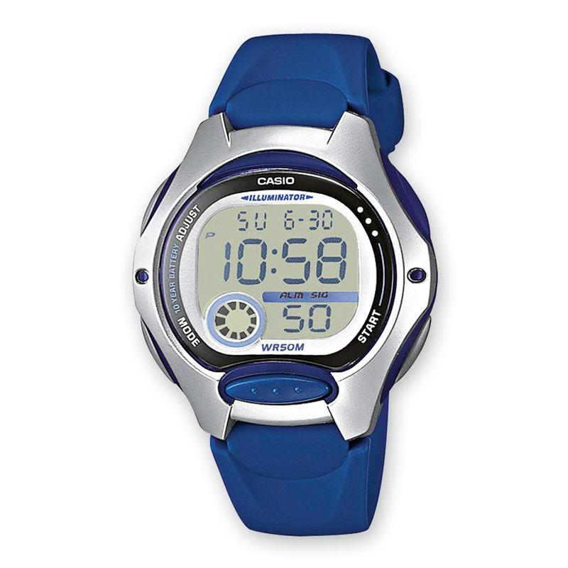 Casio Ladies Digital Watch with Resin Band - Blue