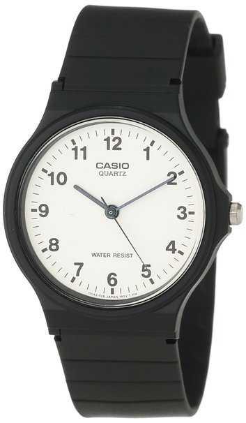 Casio Unisex Quartz Watch with Black Resin Strap
