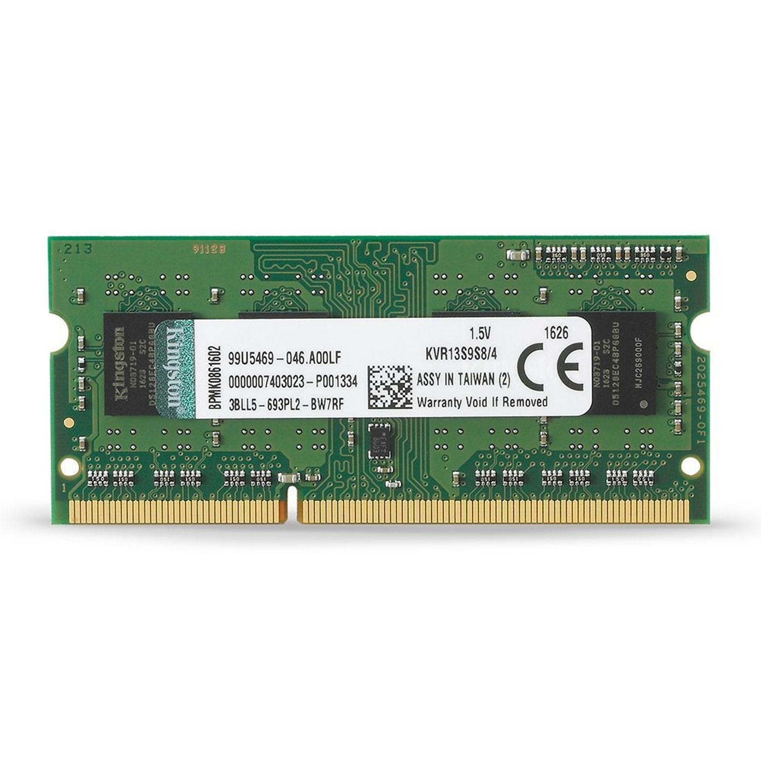 Kingston KVR 4GB 1333MHz DDR3 Non-ECC CL9 204-Pin SO-DIMM PC Memory